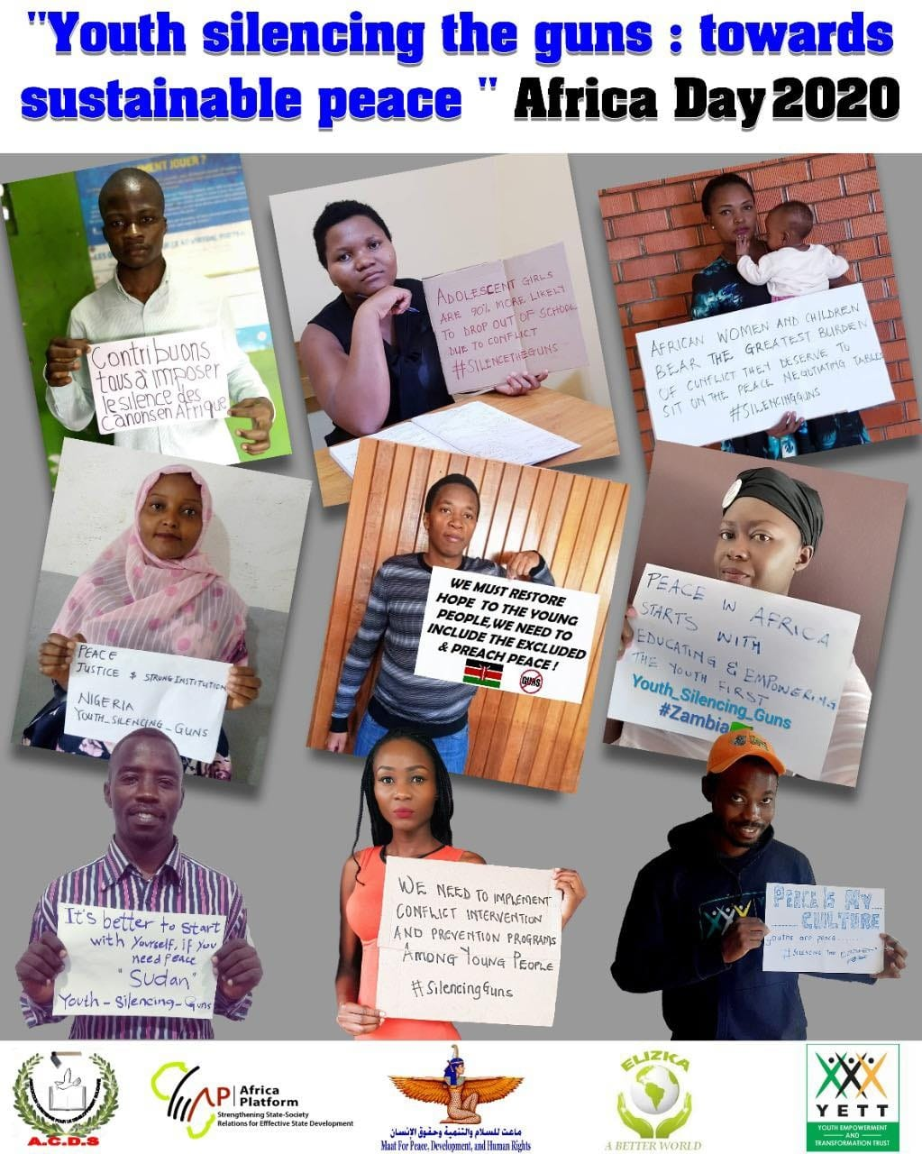 Photo of Youth from 18 African Countries act to silence guns