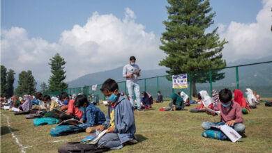 Photo of Jammu & Kashmir: Students' capacities usher in open-air community classes