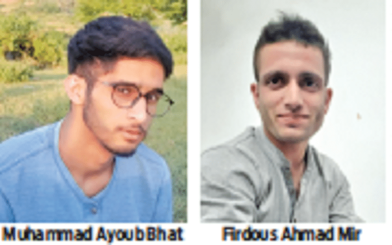 J&K: Ayoub Bhat & Firdous Ahmad Mir qualify JEE Mains, inspire the young students from their native village Sarmarg Check-Sarmarg