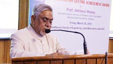Photo of Prof Emeritus Akhtarul Wasey, Eminent Indian Muslim Thinker on India's Legacy
